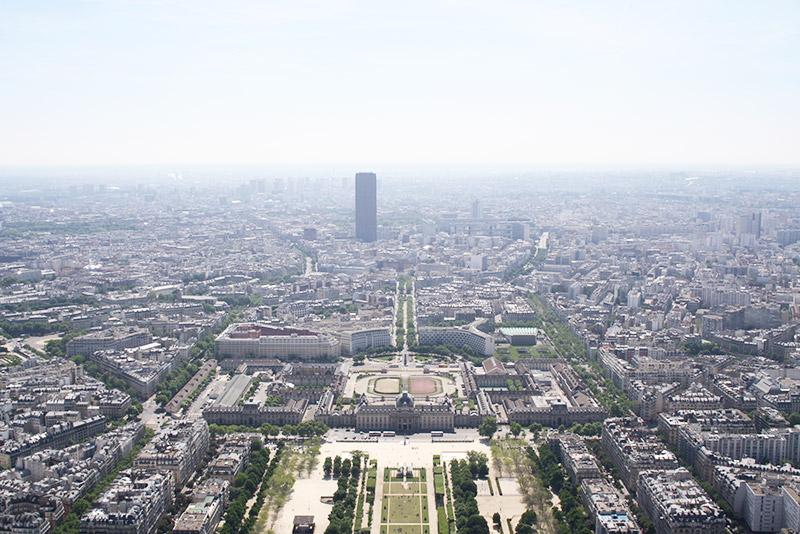 Vue du dernier étage de la Tour Eiffel