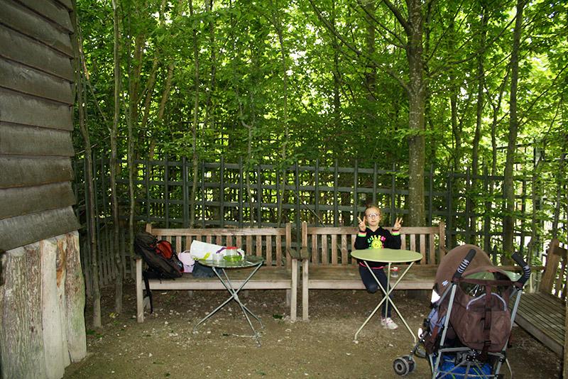Coin 'pique-nique' dans les jardins de Versailles