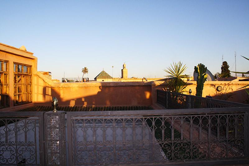 Sur la terrasse du Ryad
