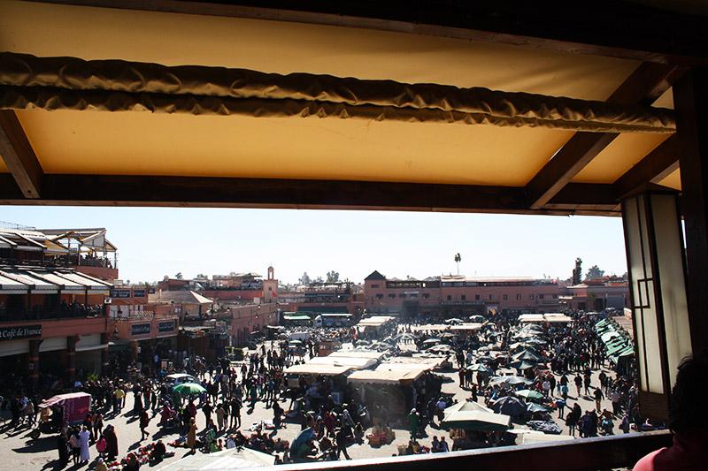 Place Jemaa El Fna vue d'en haut