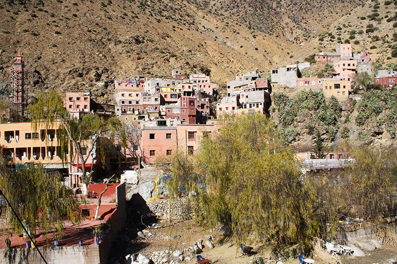 Un village dans la vallée de l'Ourika