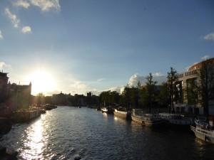 Coucher de soleil à Amsterdam