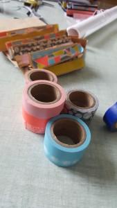 Masking tape pour finir de décorer