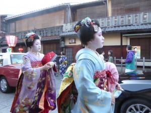 Véritables Geïshas, Gion, Kyoto